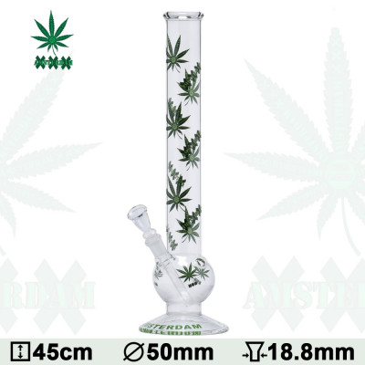 Glas Bong Cannabis 45cm