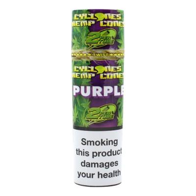 Hemp Blunt Cone Purple 2 stk